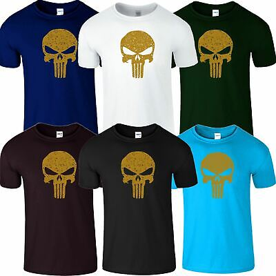 Punisher Skull Mens Gym MA Shirt TShirt Muscle Workout Bodybuilding Mua Top Tee