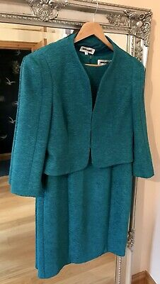 Teal Dress Jacket Sz 12 Gerard Mother Of The Bride Wedding Guest 2 Piece Smart
