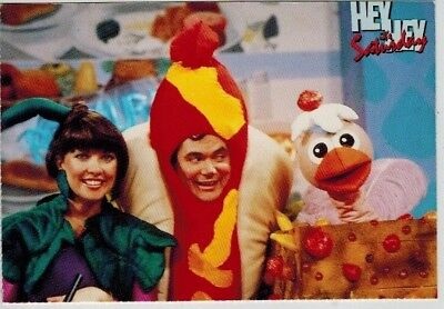 Postcard - Hey Hey its Saturday Daryl Sommers Jacki & Ossie Osterich Mid 1980's