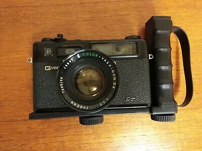 YASHICA ELECTRO 35 GT - 45 mm FILM RANGEFINDER CAMERA.with flash handle
