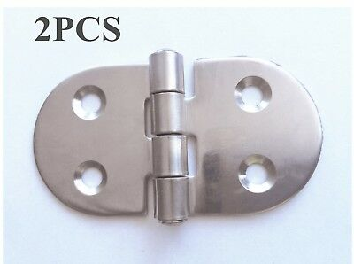 "2X Marine Boat Stainless Steel Flush Mount Hinges 3"" X 1.5"" Butterfly Hinges"