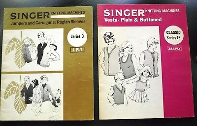 "2 ""singer"" Knitting Machines Classic Pattern Magazines  - V.g.cond  I Will Post"