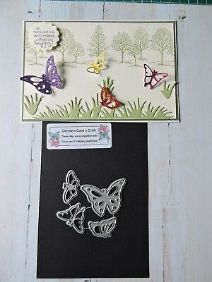 Craft Metal Cutting Die -- Small Butterfly Set Design