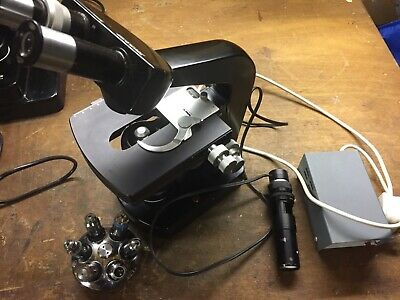 Wild M20 Research Microscope complete outfit 6x pl fluotar lenses included