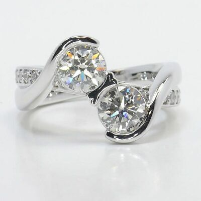 2.20 Ct Round Cut Diamond Solitaire Engagement Wedding Ring Solid 14K White Gold