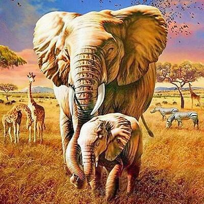 DIY Diamond Painting Elephant Cross Stitch Embroidery 5D Full Drill Craft T