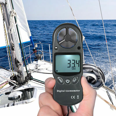 LCD Display Handheld Anemometer Wind Speed Meter thermometer Sailing CE Certify