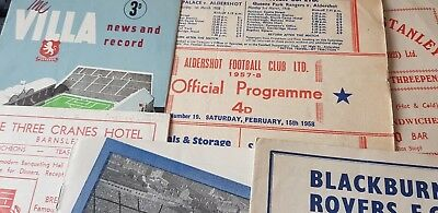 1957/58 Football Programmes (4) UPDATED
