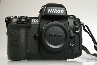 NIKON F100 Film SLR pro Camera Body w/Remote Release Tested Working but 1 issue