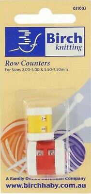 Birch 2 Pack - Row Counter For Knitting - 2.00 - 5.00 mm / 5.50 - 7.50 mm