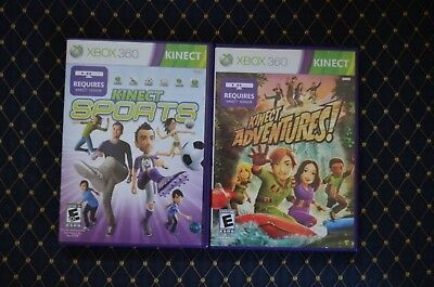 Xbox 360 Kinect Games: Kinect Adventures, Kinect Sports