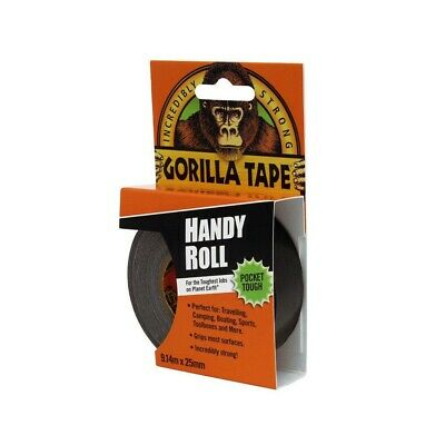 "Gorilla Tape Handy Roll 1"" Wide x 9m Tape To Go Strong Duct Tape By Gorilla Glue"