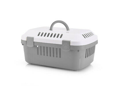 Discovery Compact Small Animal Carrier White/cold Grey 48.5x33x23.5cm (Pack of 4