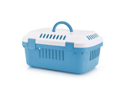 Discovery Compact Small Animal Carrier White/pacific Blue 48.5x33x23.5cm (Pack o