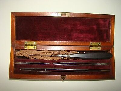 Antique Medical Dental Surgical Doctor Wound Surgery Set In Original  Box 1850