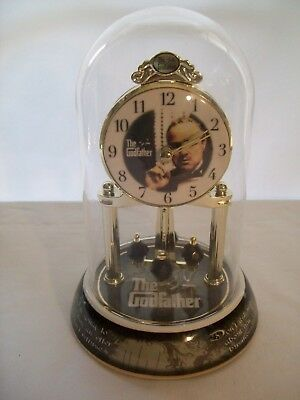 Vintage Godfather Anniversary Clock w/ Porcelain Base, Glass Dome