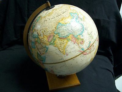 "Vintage Replogle 12"" Diameter Globe World Classic Series with Hardwood Base"