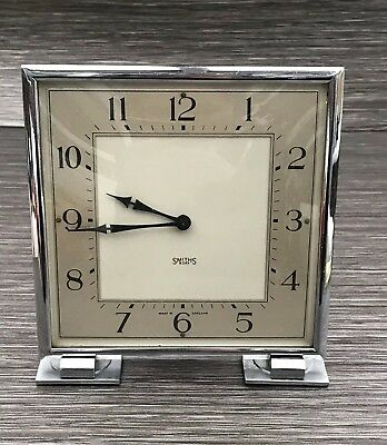 1930's Art Deco Smiths 8 Day Clock Made In England - Needs Service Please Read