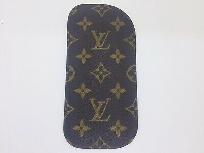 Louis Vuitton Eye Glasses Case Etui Lunettes Simple Monogram