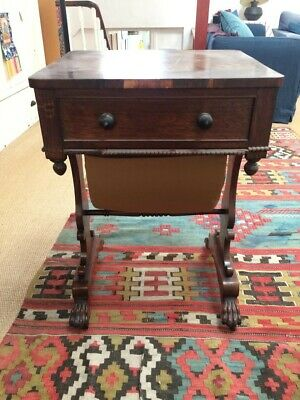LATE 19th CENTURY ANTIQUE SEWING TABLE BOX, DARK BROWN, OAK