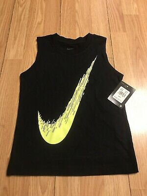 aa279b16b3526 Boys Size 6 Nike Baseball Swoosh Tank Top Muscle Shirt Athletic Clothes  Black
