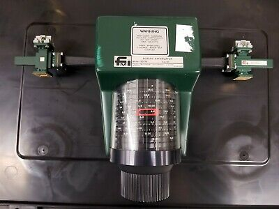 FMI Microwave 17.6 - 26.7GHz waveguide rotary attenuator 60db 20110 + Couplers