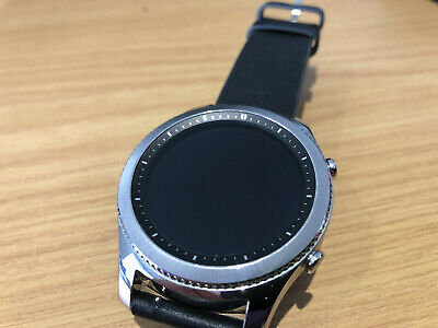 SAMSUNG SM-R770 GEAR S3 CLASSIC 42mm BLACK LEATHER STRAP SMART WATCH ACTIVITY
