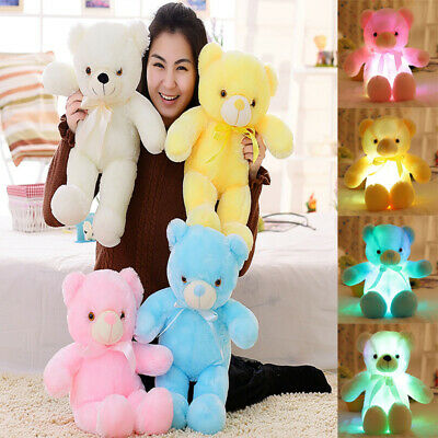 50cm Pillow doll Creative Light   Stuffed Animals Plush Toy Colorful Glowing Bea
