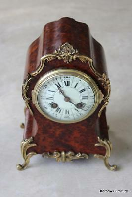Antique Walnut Louis XVth Style French Mantle Clock