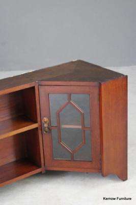 Antique Early 20th Century Mahogany Wall Hanging Liberty & Co Corner Cupboard