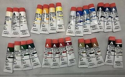 Holbein Acryla Gouache 20ml Lot Of 27 Mixed Colours