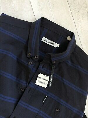 5a80ad34db9 Mens Brand New Authentic Ben Sherman Laundered Checked Shirt Size L Large
