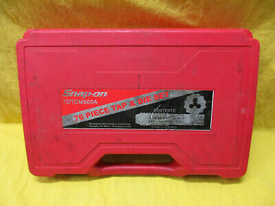 Snap On Tools TDTDM500A 76pc Combination Tap and Die Set In Case Complete