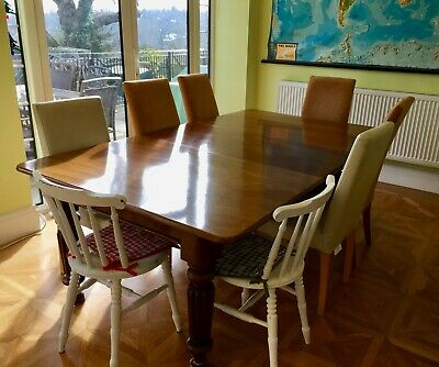 Antique Mahogany Wind Out Extending Dining Table 6-8 Seater pre-owned