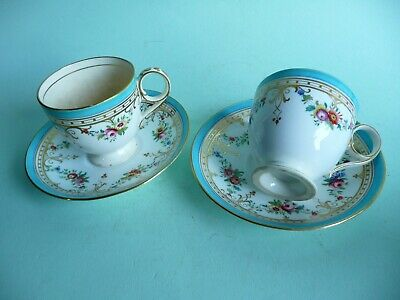 Pair of 19th century unmarked Minton cups & saucers, 875 pattern.......ref.1566