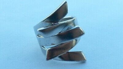 Nice Vintage Russian Fashion Women's Ring Sterling Silver 925 Size 7