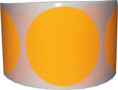 Circle Dot Stickers, 2.5 Inches Round, 500 Labels on a Roll, 18 Color Choices