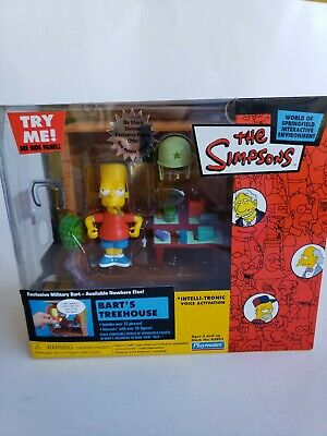 The Simpsons Talking Interactive Bart/'s Treehouse 2003 Series 12 NEW