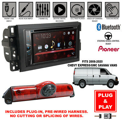 Plug In Pioneer Bluetooth Car Radio Backup Camera For Chevy Express