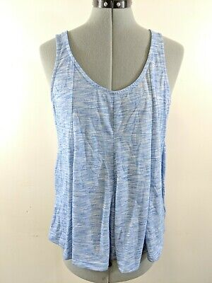 dec97276d272b D3 Old Navy Women s Tank Tops Summer Loose Fit Heathered Blue Size L Large