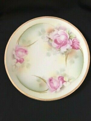 """Vintage E.S. Prufsia (Prussia) With Roses and Gold Trim Serving Dish 9 1/2"""" RARE"""