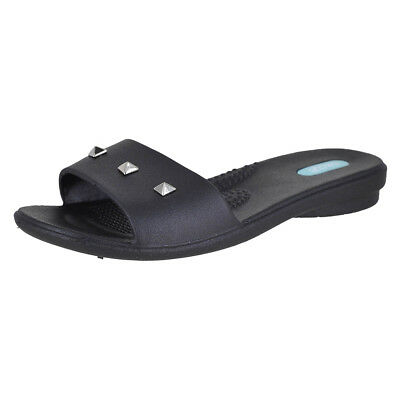 e3ff517275cc9 OKA B. WOMENS Lucky Crystal Flip Flop Sandals Licorice L -  35.99 ...