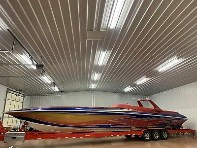 1999 Fountain 47 Lightning High Performance Stepped Powerboat Yacht