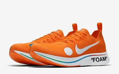 "info for c875f 6a9be Nike Zoom Fly Mercurial Flyknit Off-White™ ""Orange"" Uk 9.5 Eur 44.5"