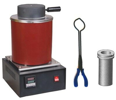 Dental Lab Furnace 2 KG for precious metals & crucibles  + Tongs
