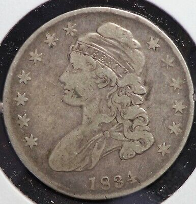 1834 Capped Bust Half Dollar 50C Coin