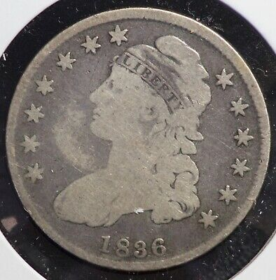 1836 Capped Bust Half Dollar 50C Coin
