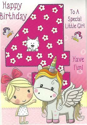 1 To 6 Yrs Old Girls Ages Birthday Greeting Card Various Designs Free Pp Fairy