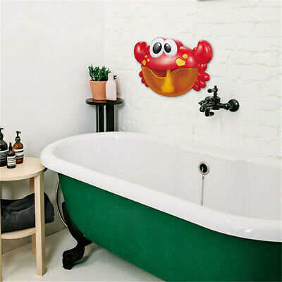 Big Crab Bubble Machine Tub Automatic Bubble Maker Blower 35 Music Songs Toy