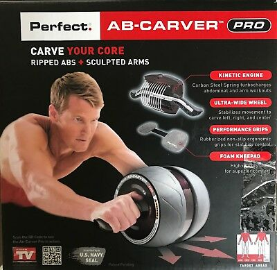 Fitness Perfect Ab Carver Pro Workout Abdominal Exercise Roller Wheel Gym Core